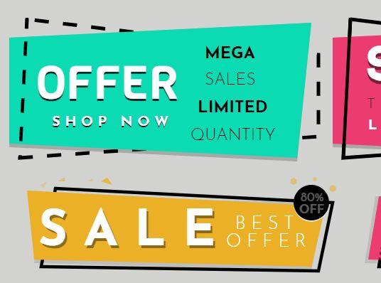 SVG geometric sale banners