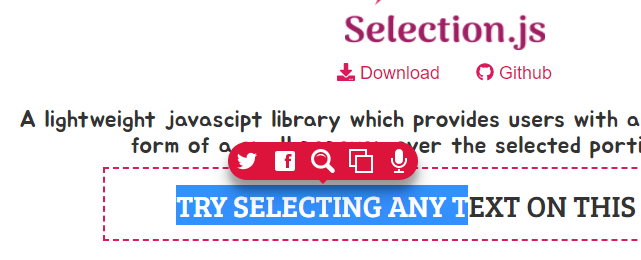 Selection-js