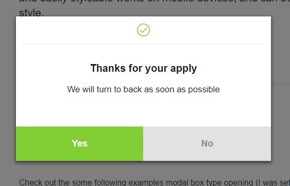 Simply Modal Box jQuery