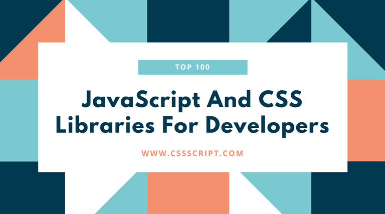 Top 100 JavaScript & CSS Libraries Of 2018