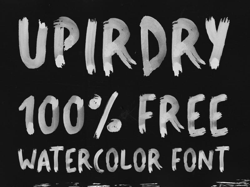 UPIRDRY Watercolor Font