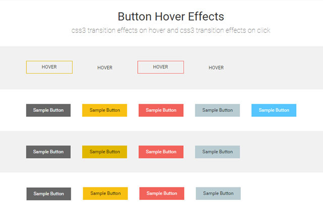 button Hover Effect Using CSS3