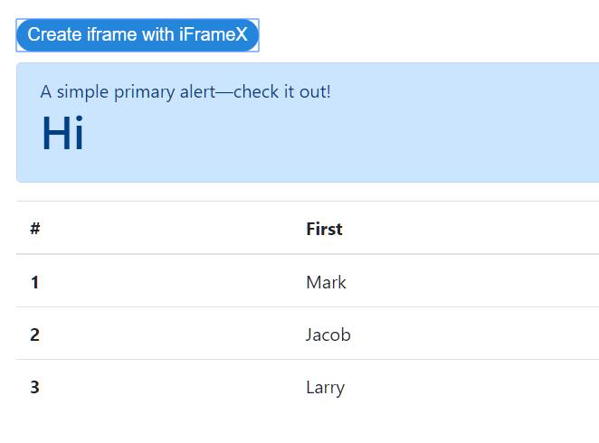iFrameX