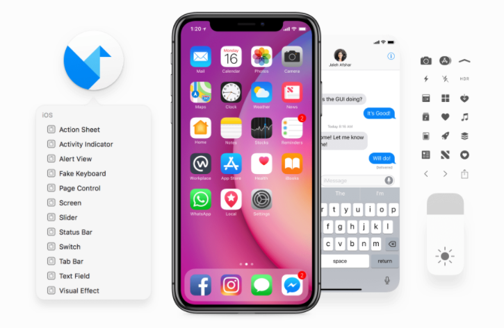 iOS 11 iPhone GUI