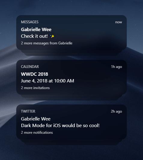 iOS 12 Dark Mode Notifications