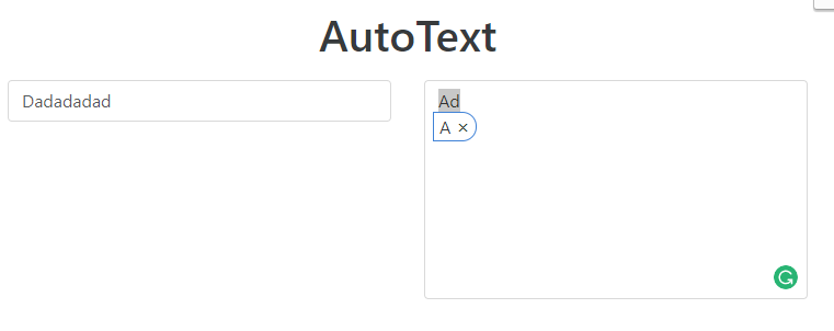 jQuery AutoText