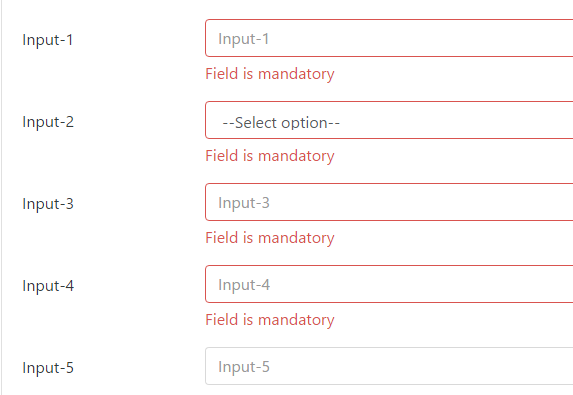 jQuery Bootstrap4 Form Validation