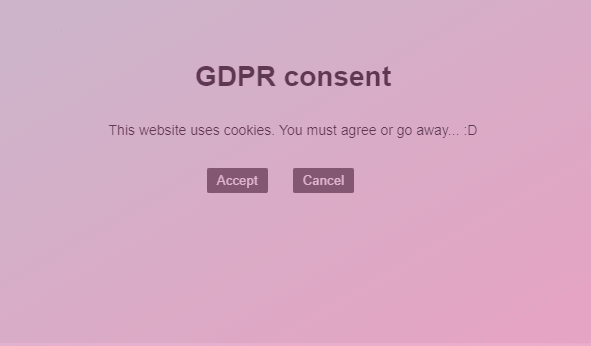 jQuery GDPR CookiePolicy