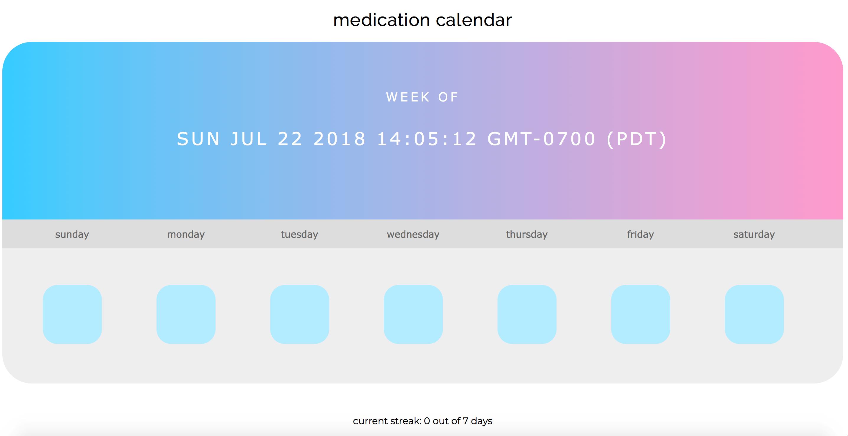 jQuery Medication-Calendar