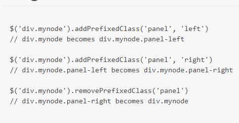 jQuery addPrefixedClass