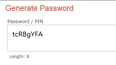 jQuery generatepassword