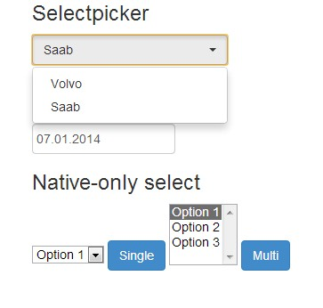 jQuery nativepicker