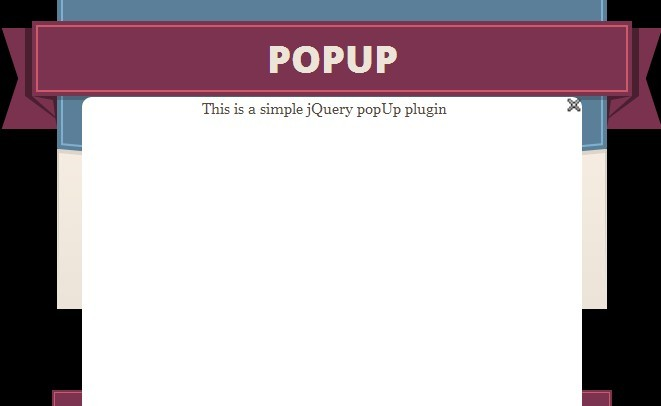 how to make html popup jquery