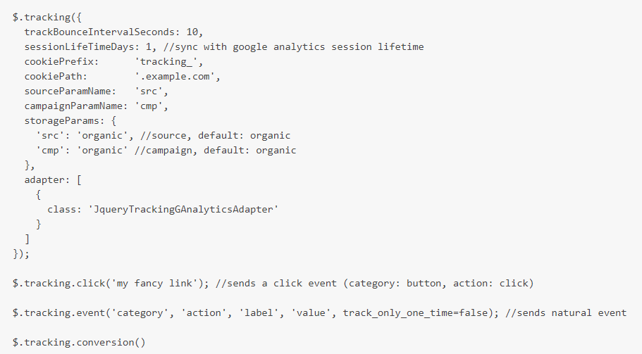 jquery.tracking