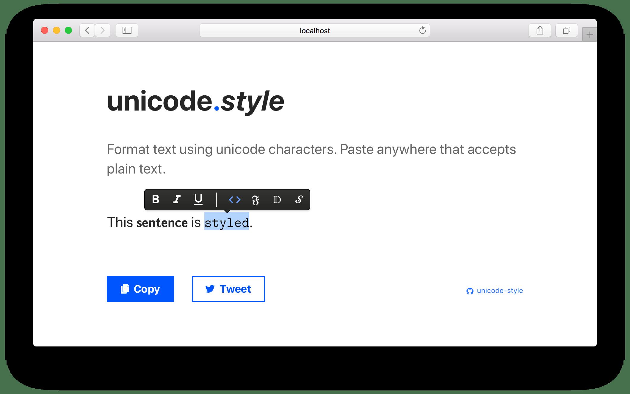 unicode-style