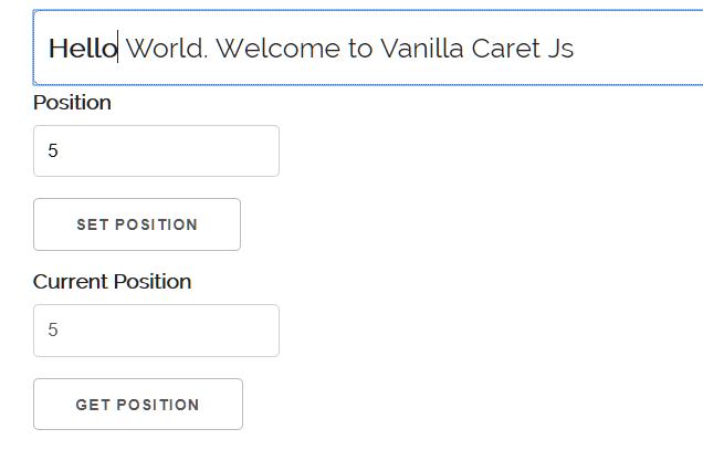 vanilla-caret-js