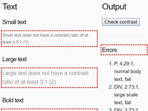 Color Contrast Checker With JavaScript - color-contrast.js