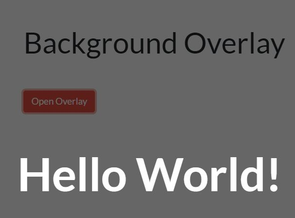 Display Content In A Fullscreen Overlay - jquery-overlay.js