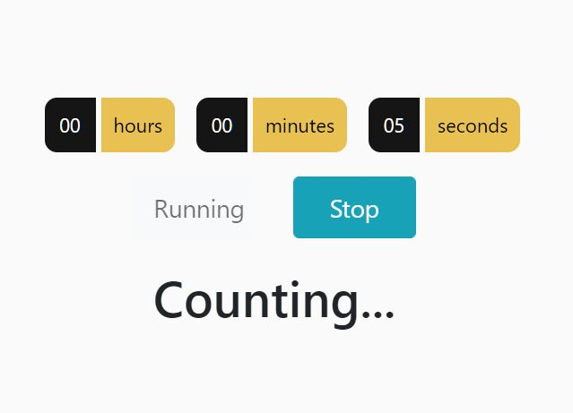 Count Up Timer (Stopwatch) Using jQuery And Local Storage
