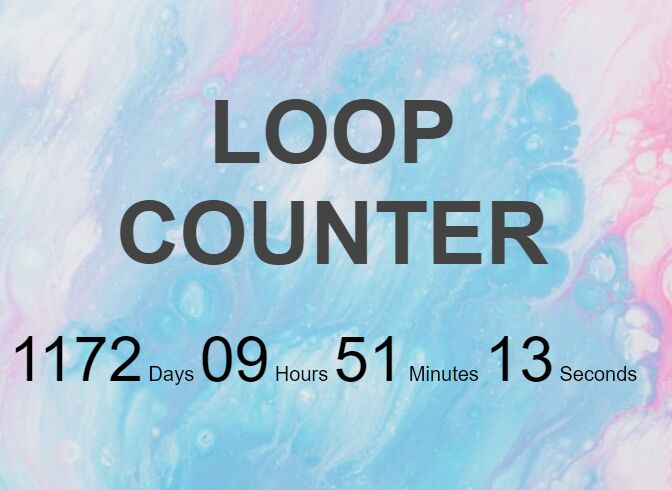 Countdown From A Specific Date - jQuery Loopcounter