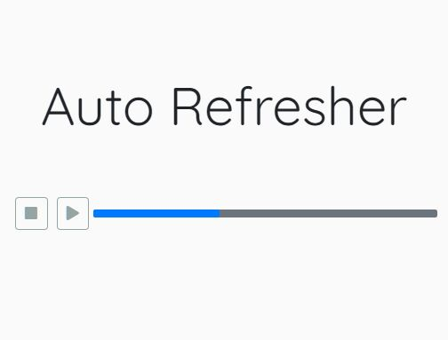 Countdown Timer With Progress Bar - jQuery auto-refresher
