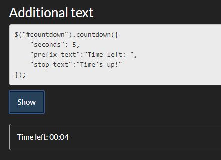 Countdown From Any Time To Zero - jQuery Countdown js | Free jQuery