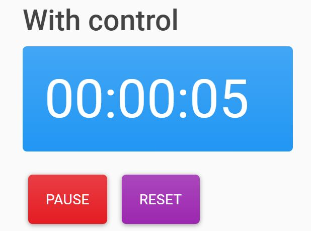 Minimal Countdown Timer With Optional Controls