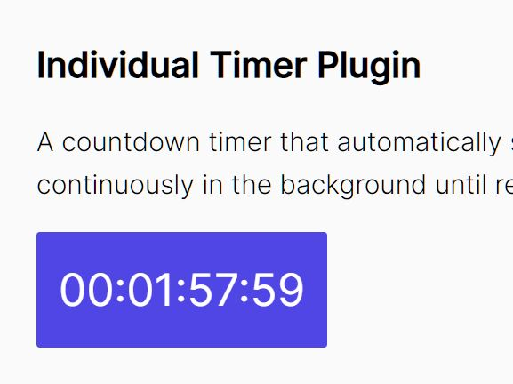 Countdown Timer That Starts On The First Visit - Timer.js
