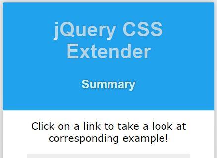 jQuery Plugin For Convenient CSS Manipulation - CSS Extender