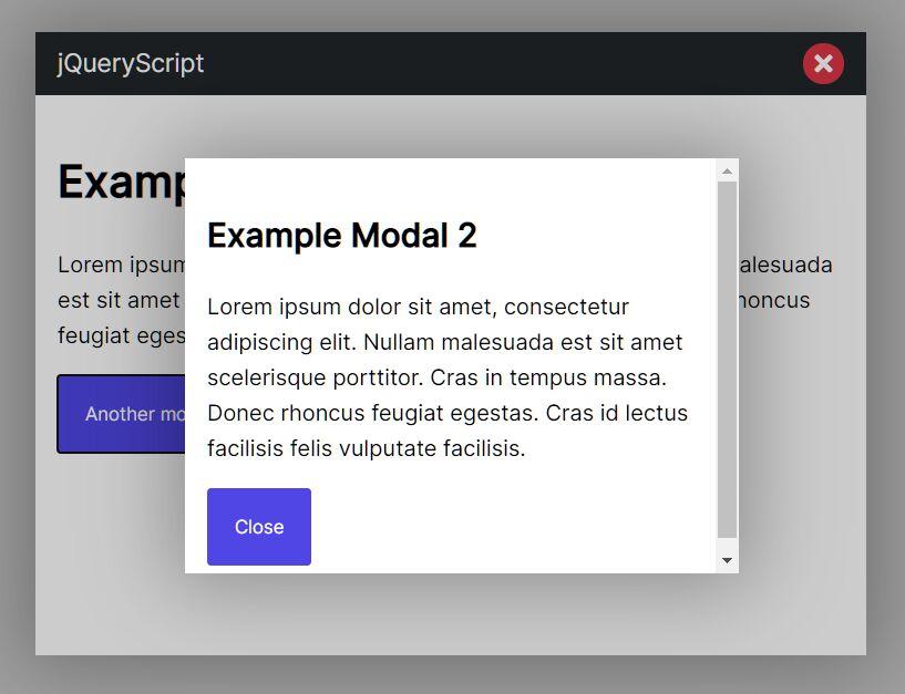 Customizable Dialog Box/Popup Window Plugin - jQuery SuperModal