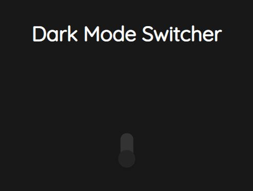Toggle Between Dard Mode And Light Mode With A Switch Button