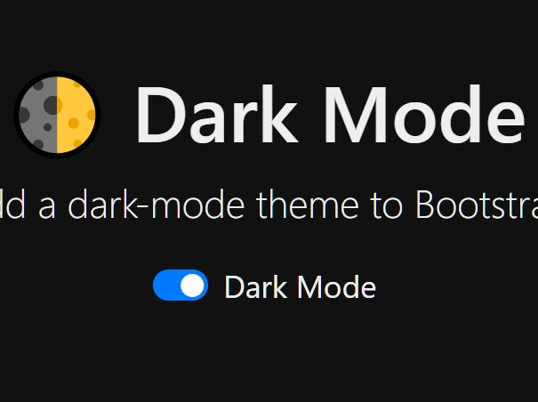Dark Mode For Bootstrap - Dark Mode Switch