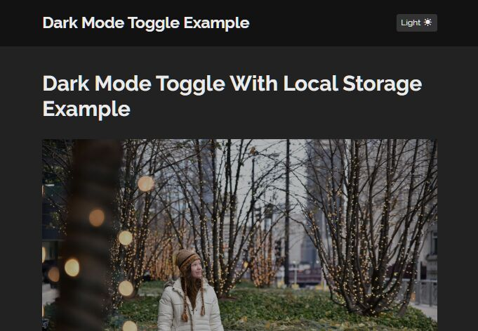 Dark Mode Toggle With jQuery And Local Storage