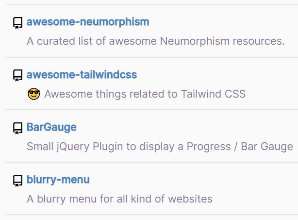 Display Github Repositories On The Page - Repos