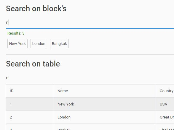 In-page DOM Filtering With jQuery - QjSearch
