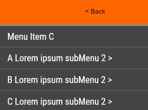 Accessible Mobile-friendly Drill Down Menu - jQuery Menu Level