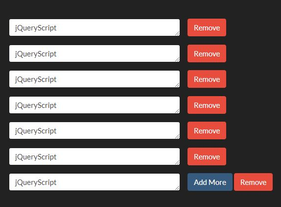 Create Dynamic Repeatable Form Elements - jQuery multiInput | Free
