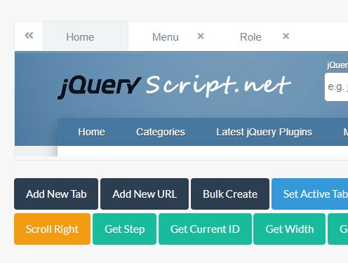 Dynamic Tabs Creation Plugin With jQuery And Bootstrap - nth-tabs