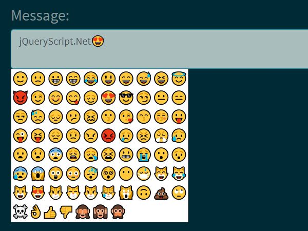 Customizable Emoji Picker For Input And Textarea - jQuery inputEmoji