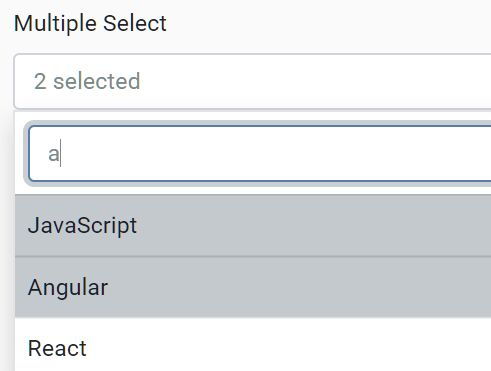 Enhanced Multiple Select For Bootstrap 4