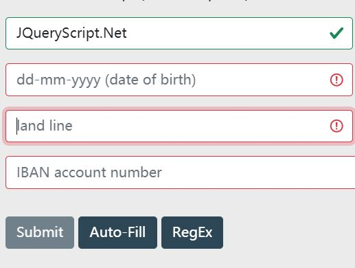 jQuery & ES6 Form Validation Plugin For Bootstrap 5