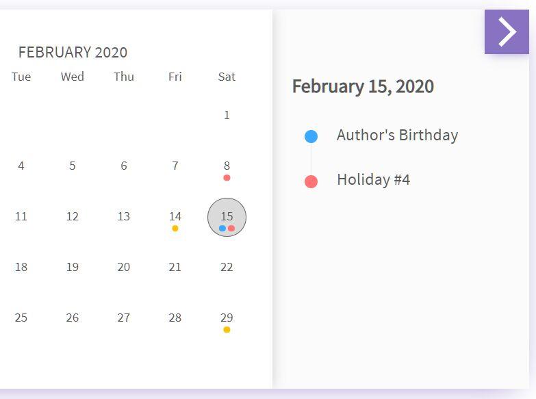 Flexible Event Calendar In jQuery - evo-calendar