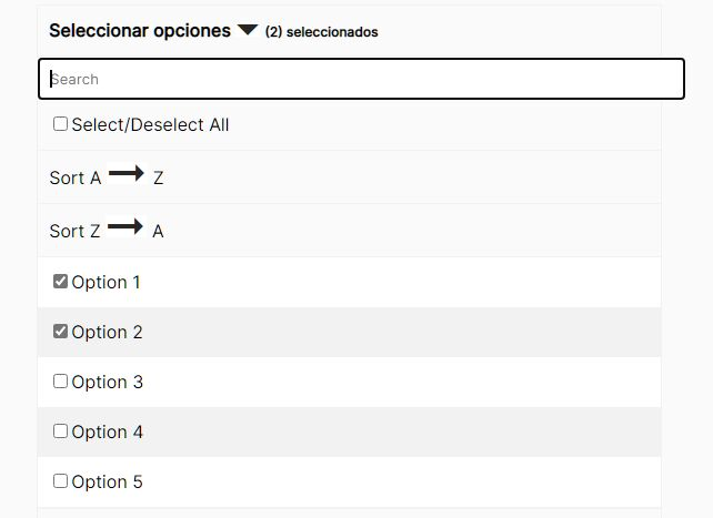 Filterable Sortable Multi Select In jQuery