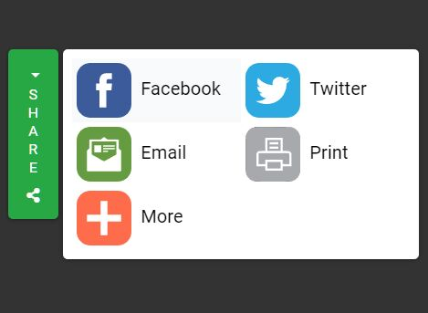 Floating Social Share Panel Plugin For Bootstrap 4 - socialshare.js