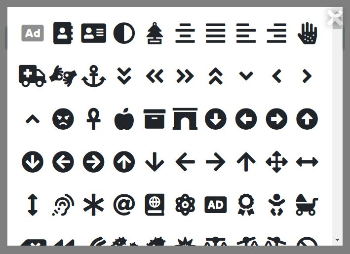 Font Awesome Icon Browser & Picker In jQuery