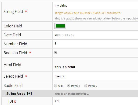 Form Based JSON Editor For jQuery - json-edit.js