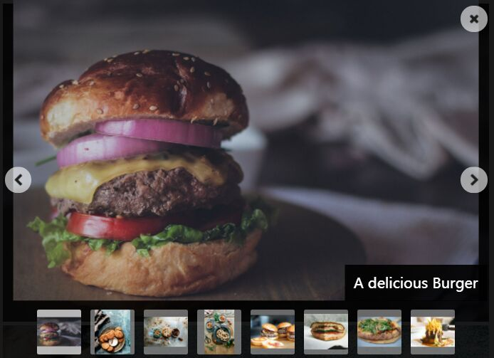 Fullscreen Lightbox Gallery With Thumbnail Navigation - jQuery lightboxed