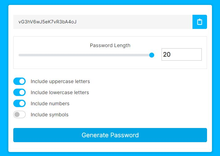 jQuery Plugin For Generating Strong Passwords