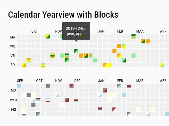 Github Style Calendar Heatmap In jQuery