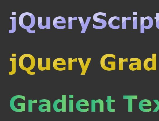 Create Gradient Text With jQuery And CSS - GradientLetter